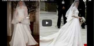 Catherine Duchess of Cambridge Second Wedding Dress