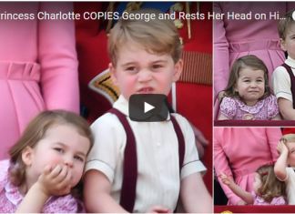 How Princess Charlotte COPIES George and Rests Her Head on His Shoulders