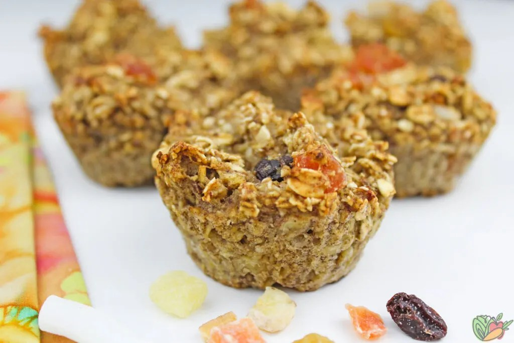 muffins made with tropical trail mix
