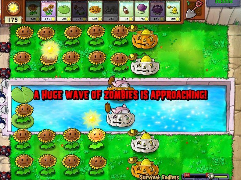 Plants VS Zombies Survival: Endless100FlagsSetup (3/6)