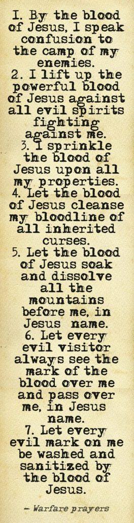 Blood of Jesus Prayer