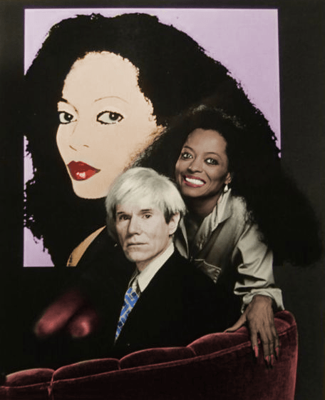 Diana Ross and Andy Warhol (who designed the cover art of Silk Electric)