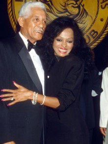 Diana Ross and her father during the 90´s