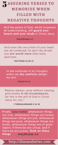 5 Assuring verses to memorize when negative thoughts fills our mind