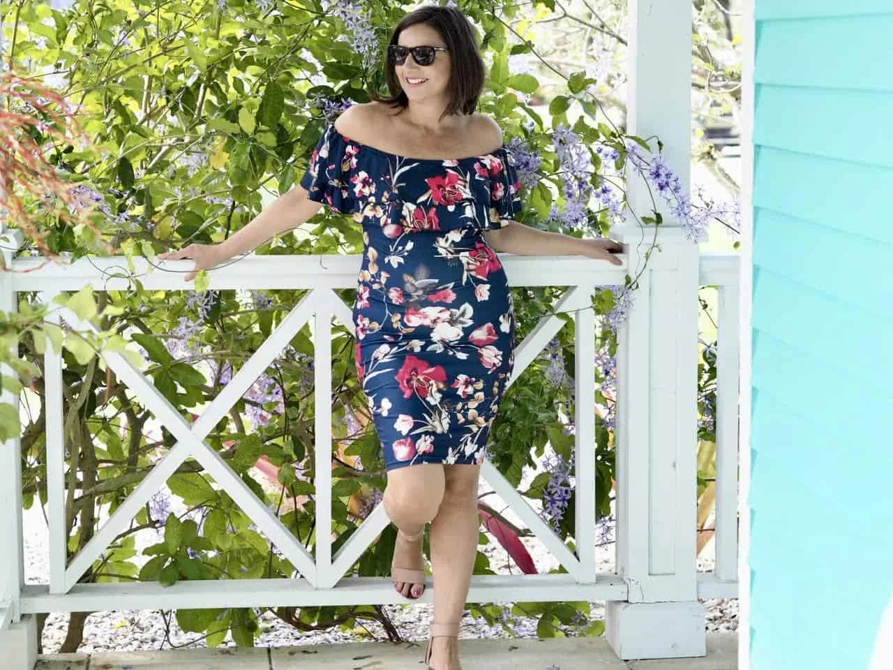 Floral and Ruffle Dress For Spring