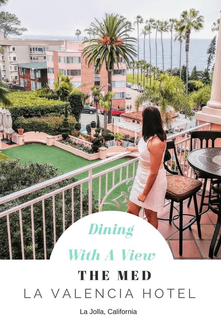 Amazing Dining Views at The MED La Valencia Hotel | USA travel | USA destinations | California travel | California destinations | La Jolla California | La Jolla California Dining | Where to eat in California | Best California hotels
