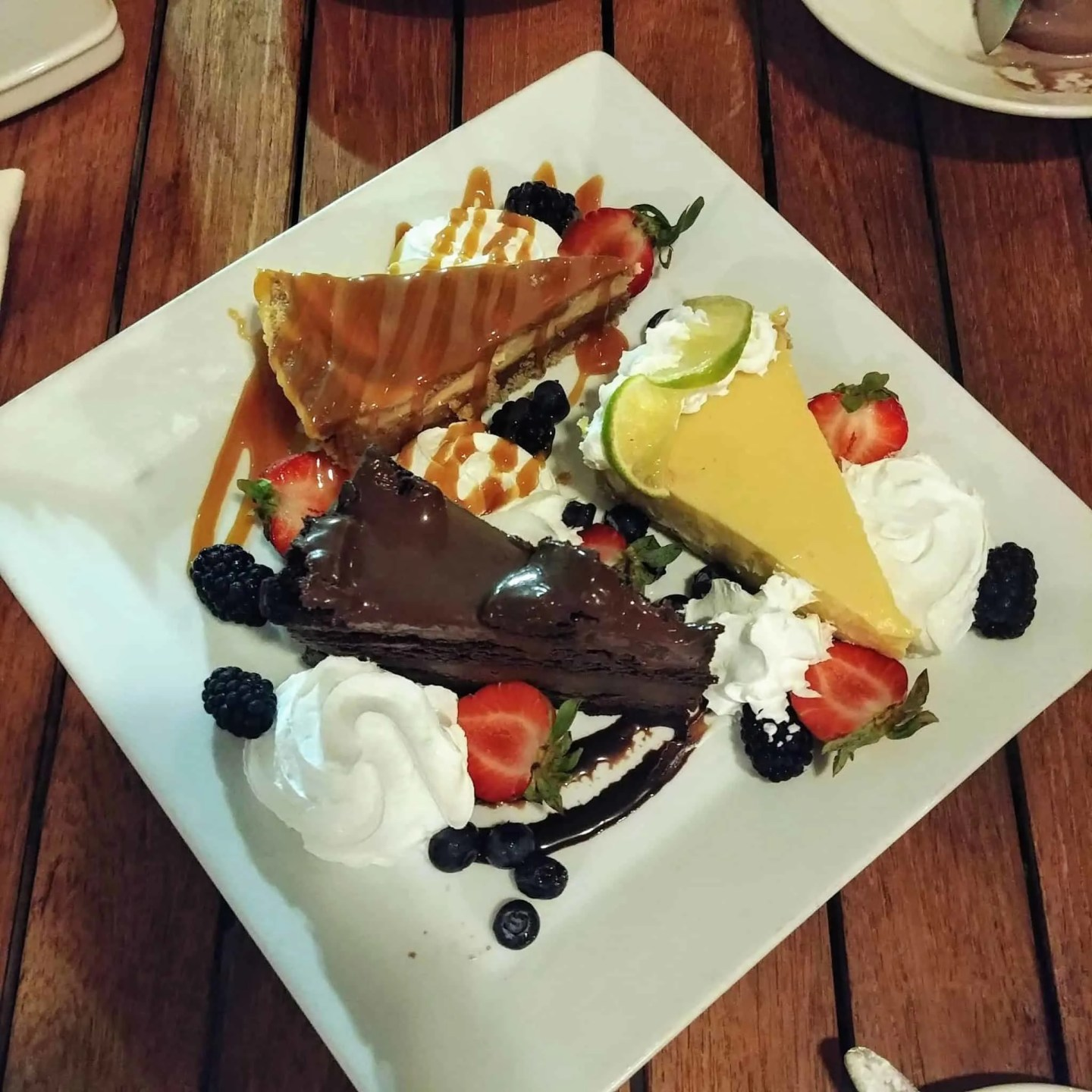 Seagate Hotel Atlantic Grille chocolate cake key lime pie butterscotch cake