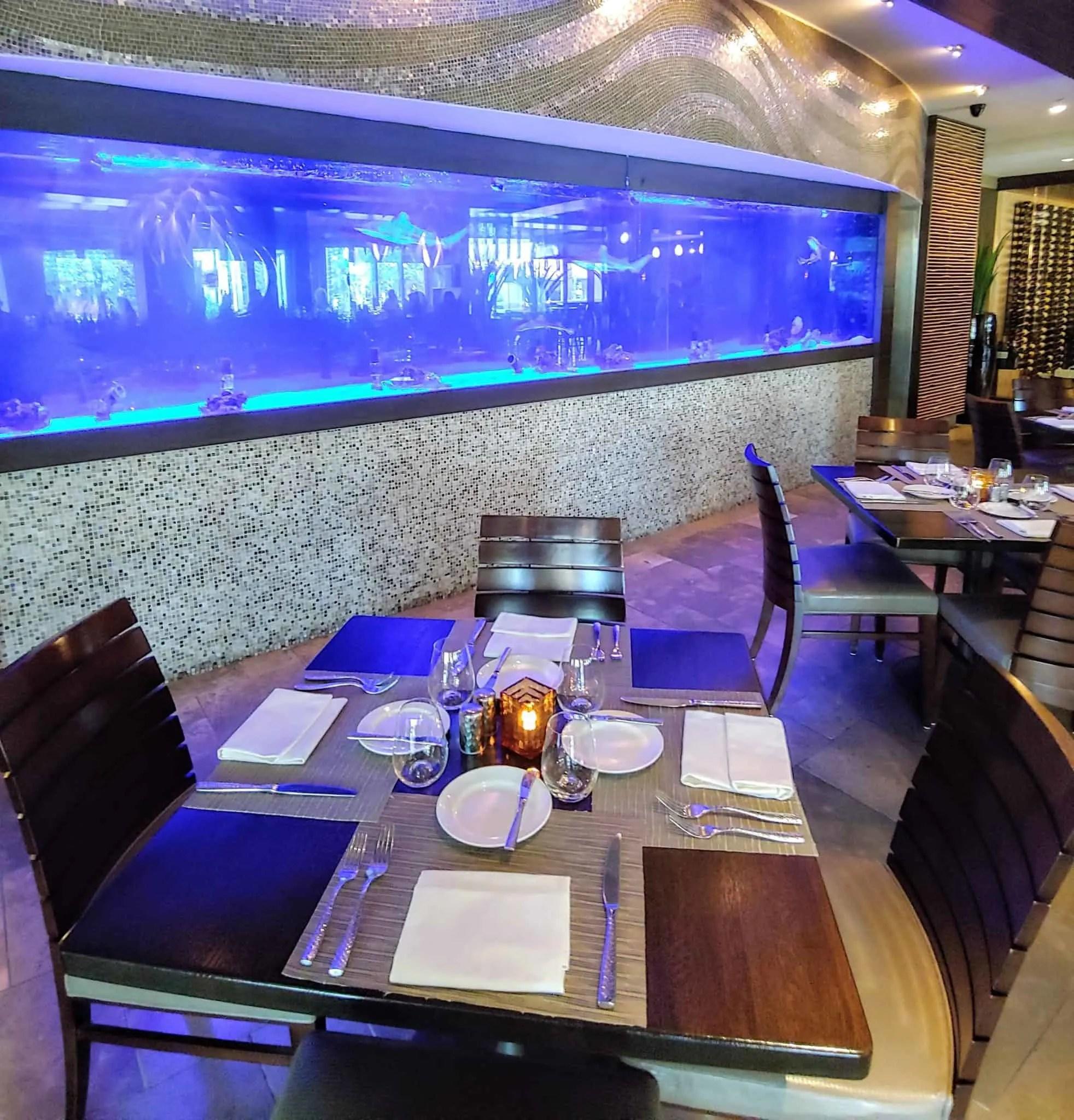 seagate hotel restaurant fish tank
