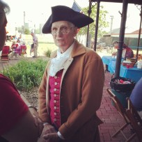 A visitor from the past joined the Glorious Fourth celebration at the Old Depot Museum.