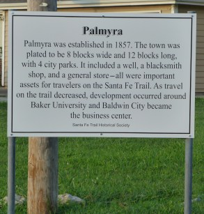 The new Historic Marker for Palmyra.