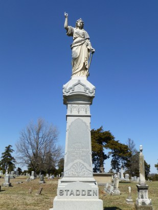 The Stadden family monument at Evergreen Cemetery in Fort Scott.