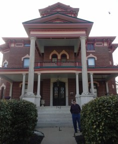 One of the Lyons Twin Mansions, our B&B during our weekend at Fort Scott.