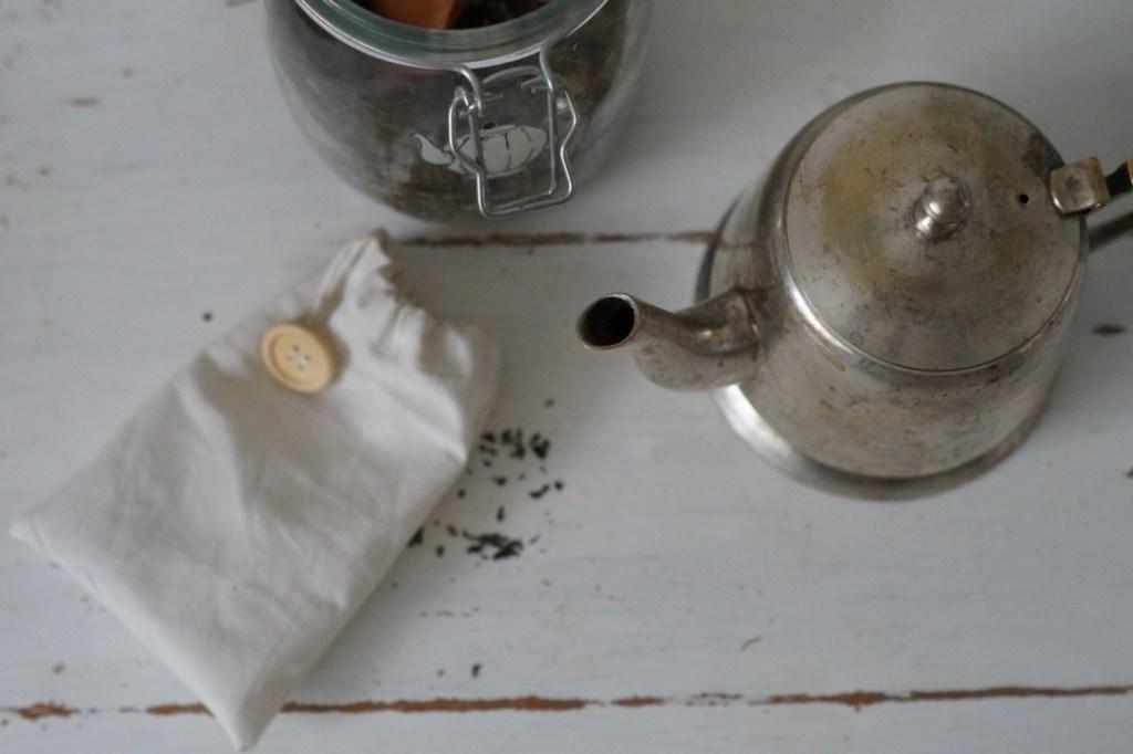 nachhaltiger Teebeutel aus Stoff