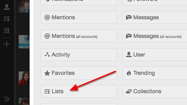 TweetDeck Add Column