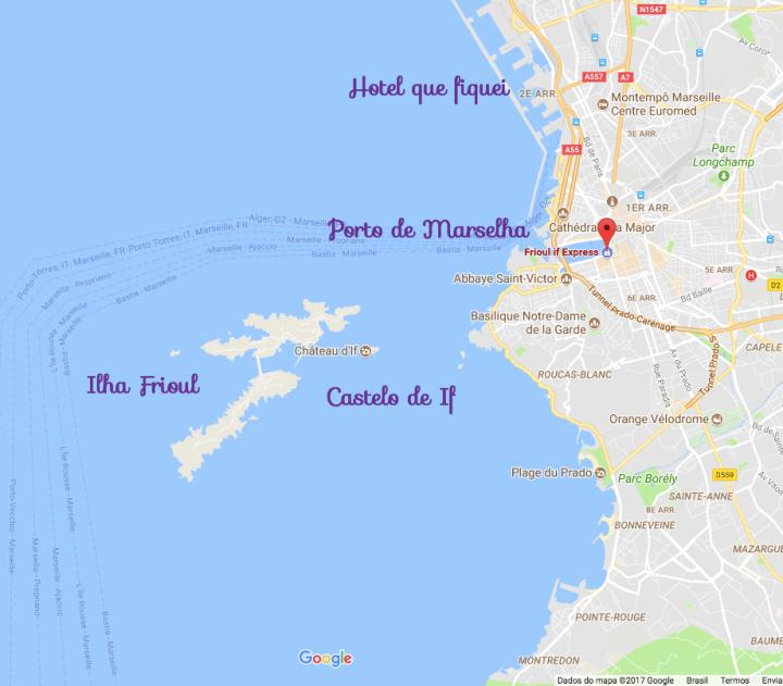 Mapa Chateau D'If Marselhha