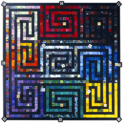 The Labyrinth installation in 721 blocks