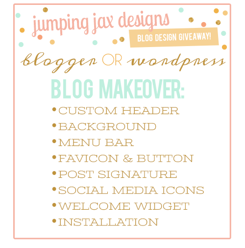 Full Blog Design Giveaway with Jumping Jax Designs!