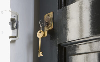 Key in open door