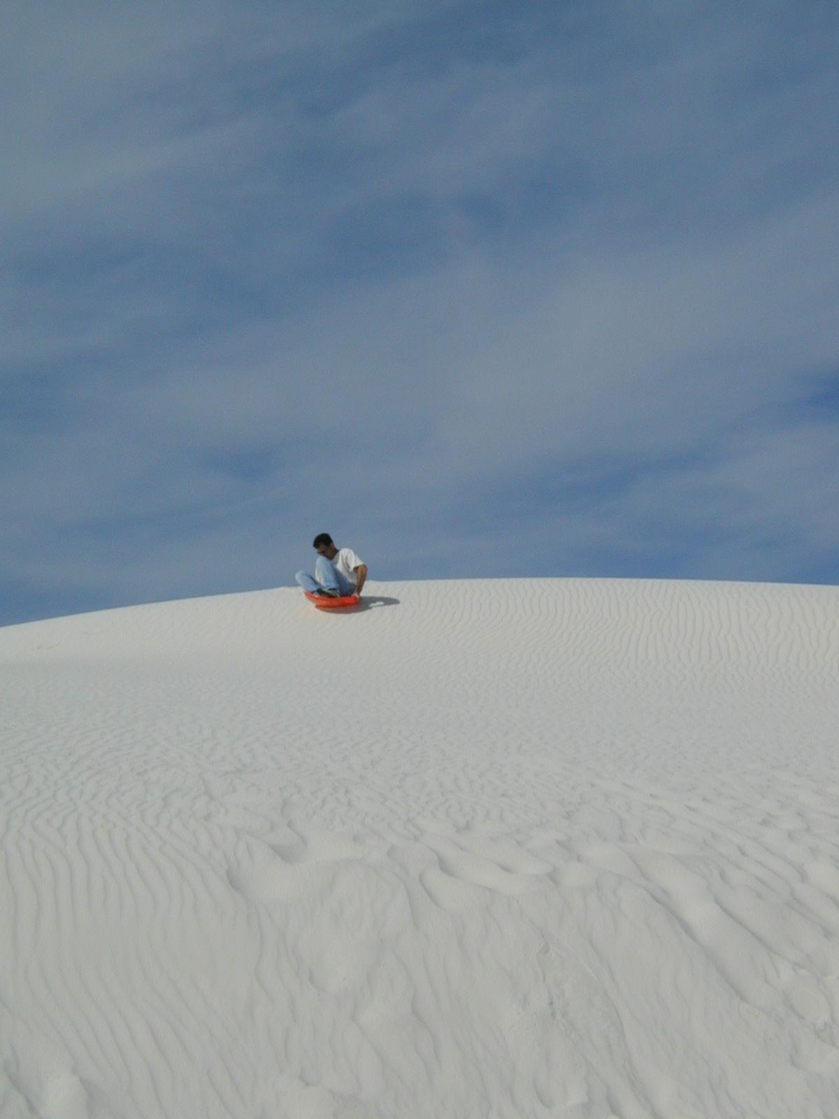 Sand Sledding in White Sands