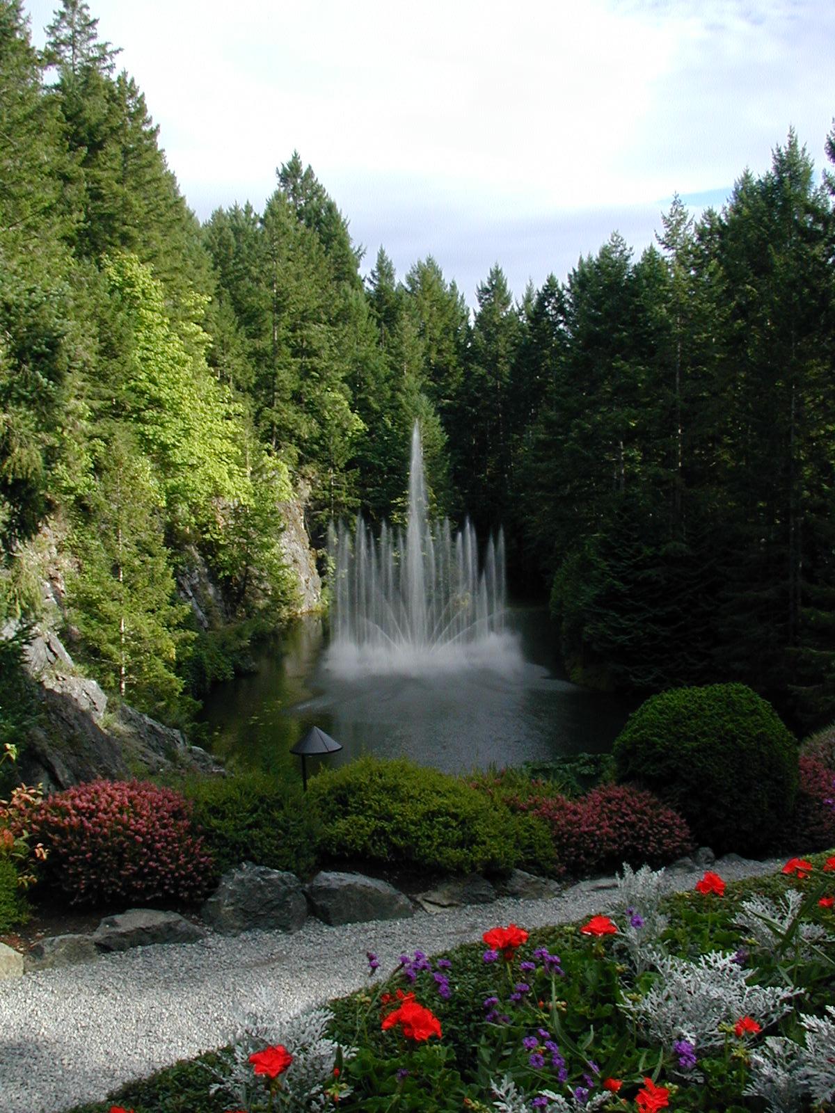 Water Fountains at Butchart