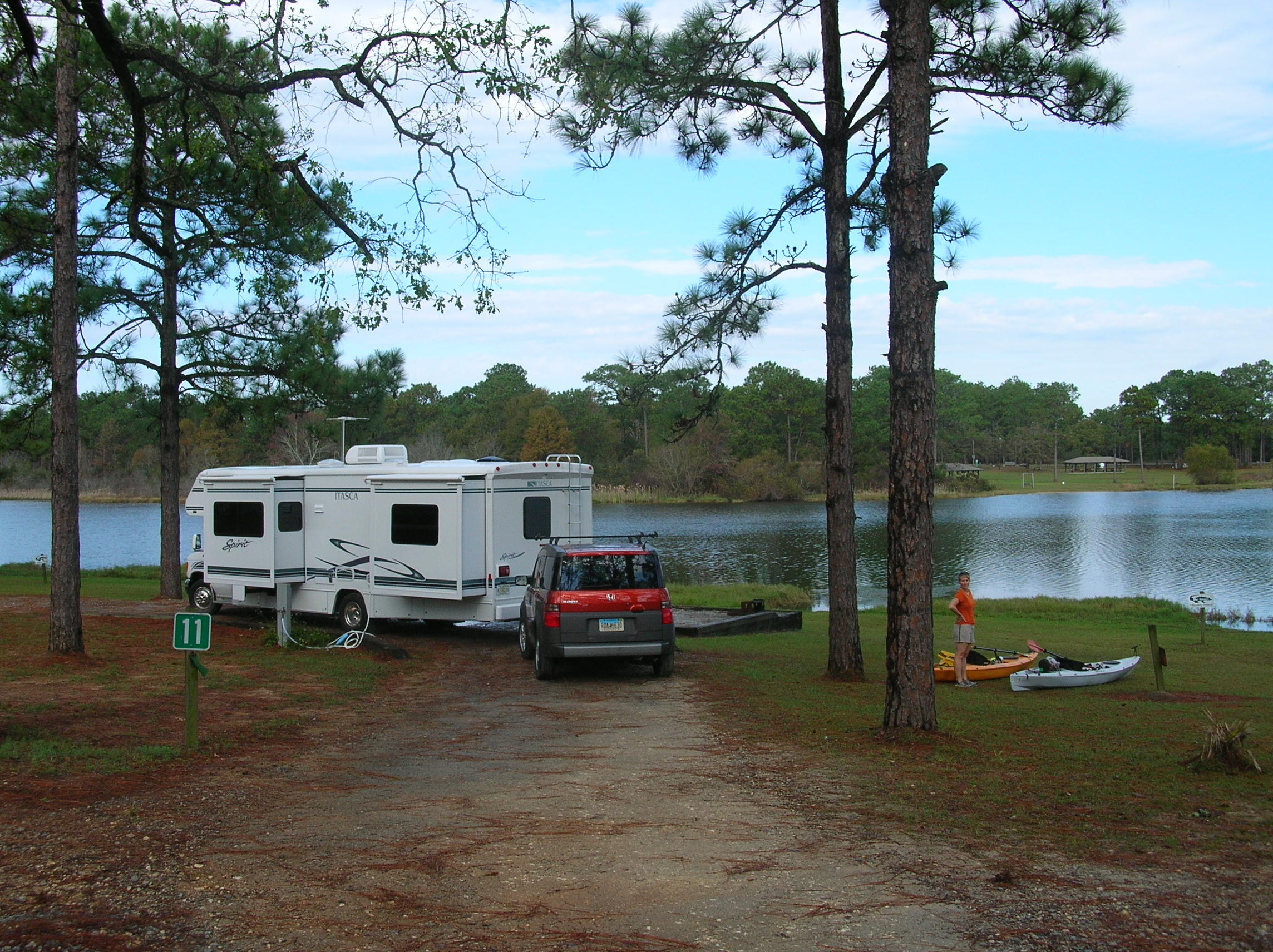 Our Campsite from Land
