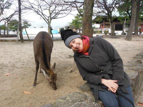 Deer - walking around freely