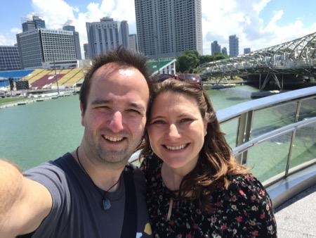 Selfie on a bridge.