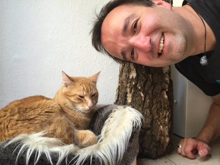 Kai and cat.
