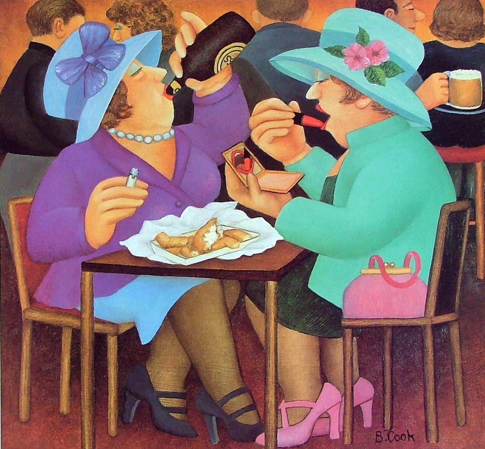 Beryl Cook - LADIES WHO LUNCH