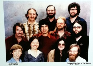 Bill Gates in the lower left and Paul Allen in the lower right