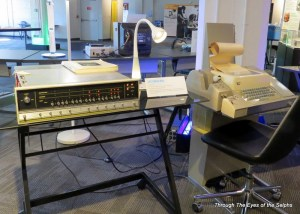 Bill used this Data General Nova computer and a Teletype to develop F-4 fighter jet simulation programs