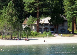 Vikingsholm is located at the head of Emerald Bay in Lake Tahoe, California