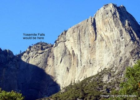 Upper Yosemite Falls is dry in SEPT