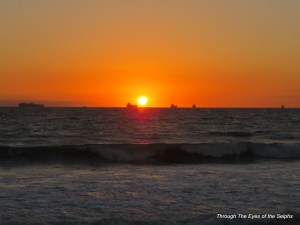 Sunset from the shores of Huntington Beach