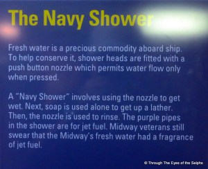 Just like in an RV when you need to save water: get wet, soap up then rinse off.