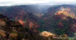 Waimea Canyon with Waipoo Falls on the right