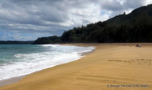 Right view of Lumahai Beach part of South Pacific movie