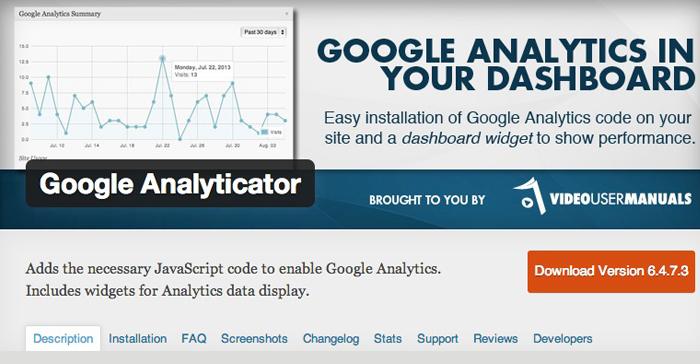 Google Analyticator - JL Gestion SA