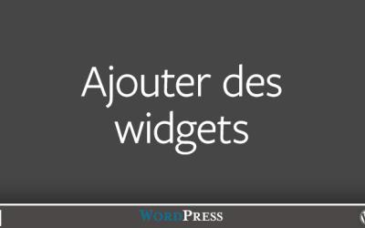 Ajouter des widgets dans WordPress