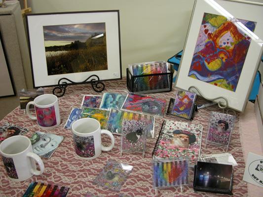Merchandise at Handmade With Love Fair