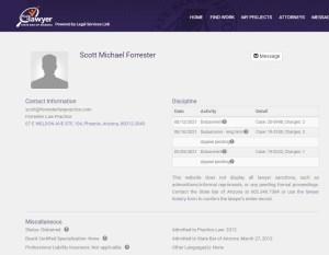 Scott Forrester disbarred