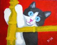 "Big Eyed Kitten, Diane Dyal, Acrylic, 16""x20"", 2008"