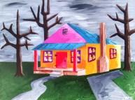 "Colorful House, Diane Dyal, Acrylic, 16""x20"", 2015"