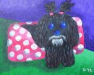 """Lulu Dog, Diane Dyal, Acrylic, 11""""x14"""", 2012"""