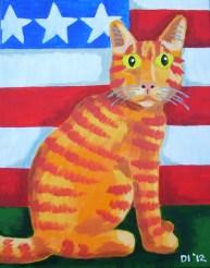 """Star Spangled Stripedie, Diane Dyal, Acrylic, 11""""x14"""", 2012"""