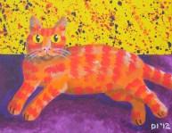 """Stripedie Pollock, Diane Dyal, Acrylic, 11""""x14"""", 2012"""