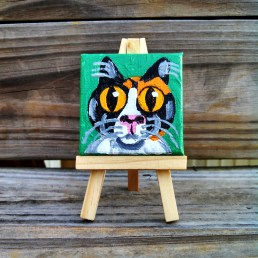 """Mini Custom Calico by Diane Dyal copyrighted 2-1/2"""" square"""