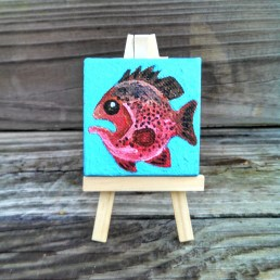 """Mini Grouper by Diane Dyal copyrighted 2-1/2"""" square"""