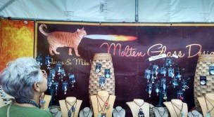 Molten Glass Cat Sign