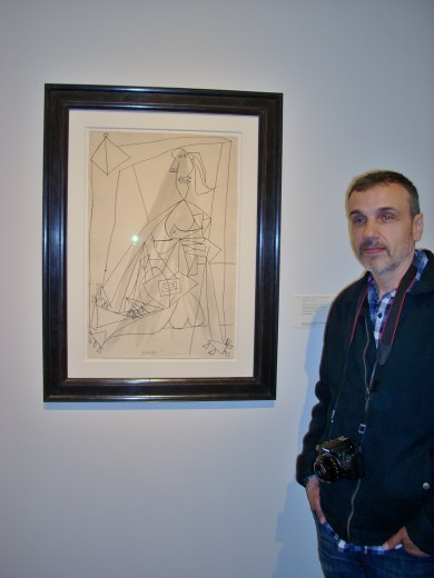 Chris with Picasso Drawing